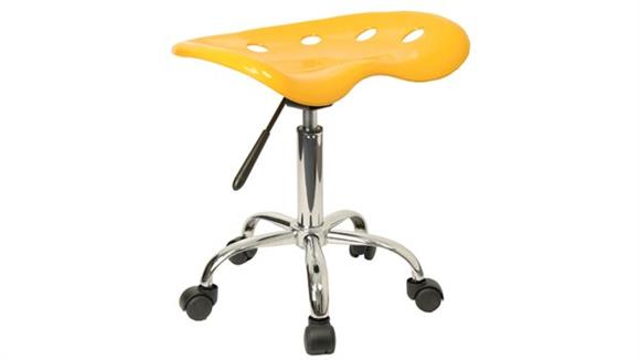 Drafting Stools Innovations Office Furniture Vibrant Yellow Tractor Seat And Chrome Stool