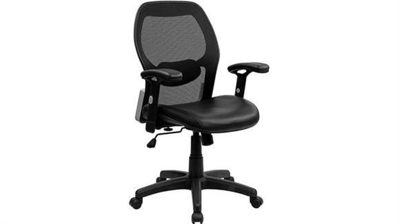 Office Chairs Innovations Office Furniture Super Mesh Chair with Leather Seat