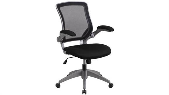Office Chairs Innovations Office Furniture Mid-Back Mesh Swivel Chair with Flip-Up Arms