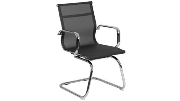 Side & Guest Chairs Innovations Office Furniture Reception Chair with Sled Base