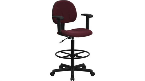Drafting Stools Innovations Office Furniture Fabric Drafting Chair, Adjustable Arms