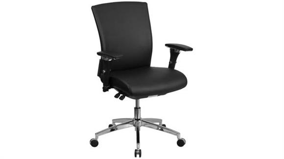 Big & Tall Innovations Office Furniture Big & Tall Mid-Back, Executive Leather Chair