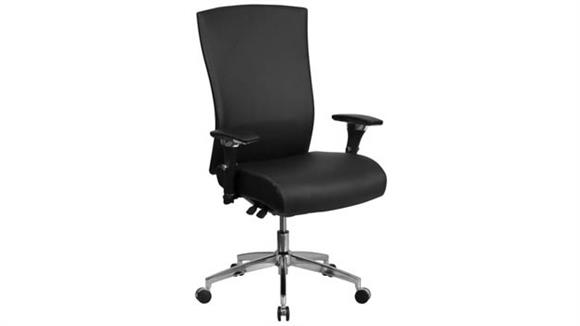 Big & Tall Innovations Office Furniture Big & Tall High-Back, Executive Leather Chair