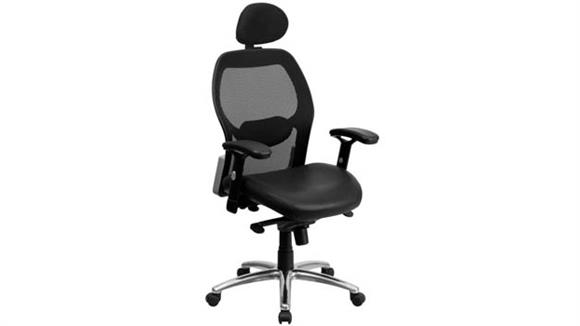 Office Chairs Innovations Office Furniture High-Back Executive Swivel Chair with Leather Seat, Knee-Tilt Control and Adjustable Arms