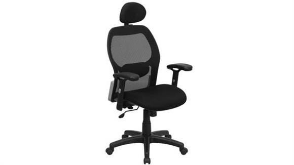 Office Chairs Innovations Office Furniture High-Back Mesh Executive Swivel Chair with Adjustable Arms