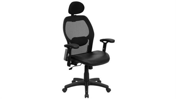 Office Chairs Innovations Office Furniture High-Back Executive Swivel Chair with Leather Seat