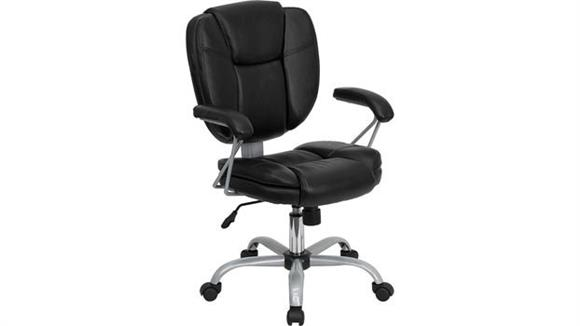 Office Chairs Innovations Office Furniture Black Leather Computer Task Chair