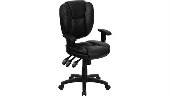 Office Chairs Innovations Office Furniture Black Leather Multi Function Task Chair