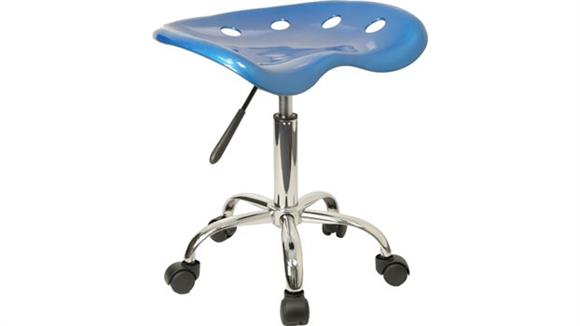 Drafting Stools Innovations Office Furniture Vibrant Bright Blue Tractor Seat And Chrome Stool