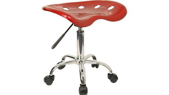 Drafting Stools Innovations Office Furniture Vibrant Wine Red Tractor Seat And Chrome Stool