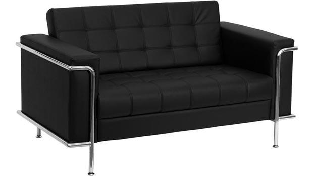 Enjoyable Leather Reception Loveseat By Innovations Office Furniture Home Interior And Landscaping Ologienasavecom