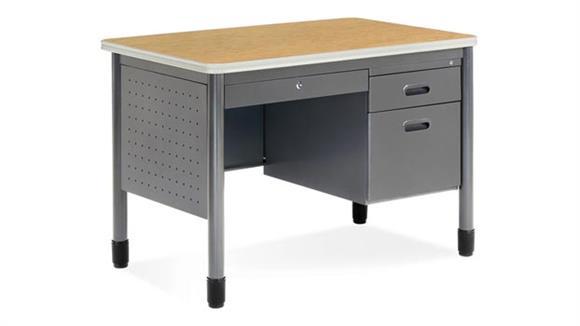 """Executive Desks OFM 42"""" Single Pedestal Steel Desk"""