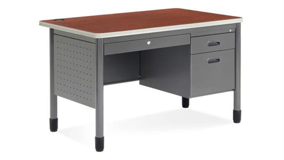 """Executive Desks OFM 48"""" Single Pedestal Steel Desk"""