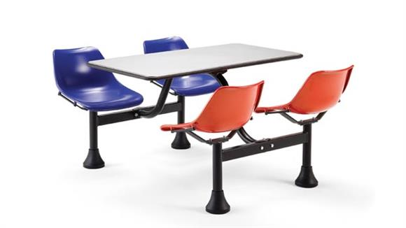 "Cafeteria Tables OFM 24"" x 48"" Cluster Table and Chairs"