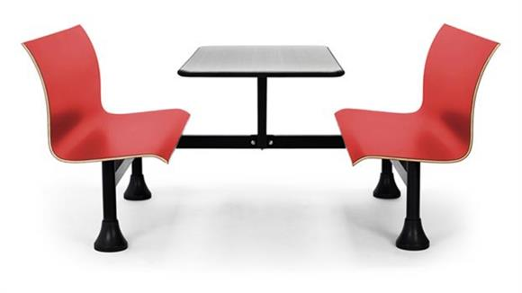"Cafeteria Tables OFM 30"" x 48"" Table with Retro Bench"