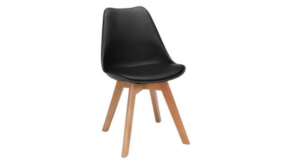 Dining Chairs OFM Plastic Dining Chair with Vinyl Cushion - 2PK