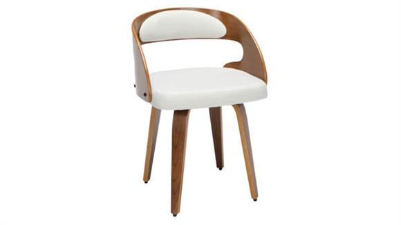 Dining Chairs OFM Wood and Fabric Dining Chair