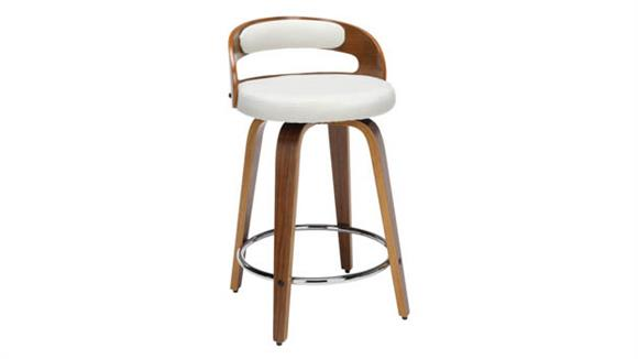 """Counter Stools OFM 24""""H Wood and Fabric Swivel Counter Stool"""