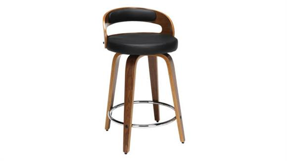 """Counter Stools OFM 24""""H Wood and Vinyl Swivel Counter Stool"""