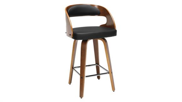 """Counter Stools OFM 26""""H Wood and Vinyl Swivel Counter Stool"""