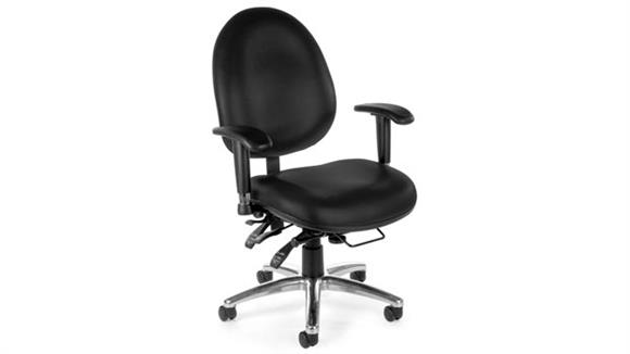 Office Chairs OFM Vinyl 24 Hour Computer Task Chair