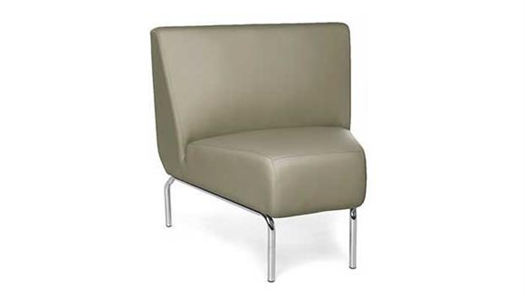 Side & Guest Chairs OFM Armless 45 Degree Modular Lounge Chair
