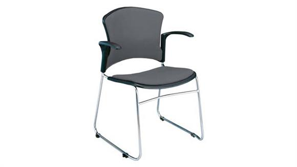 Stacking Chairs OFM Fabric Seat and Back Stack Chair with Arms