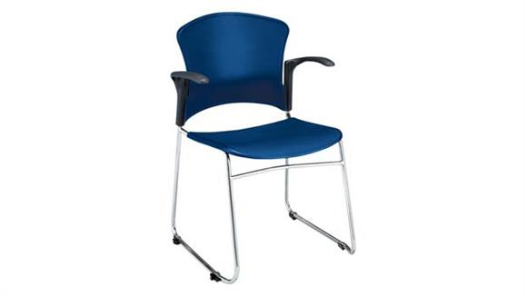 Stacking Chairs OFM Plastic Seat and Back Stack Chair with Arms
