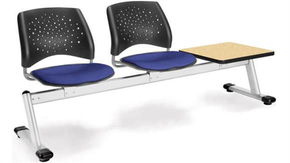 Side & Guest Chairs OFM Stars 2 Seat Bench with Table