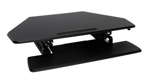 Adjustable Height Desks & Tables OFM Desktop Riser Corner Unit
