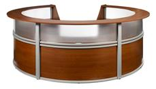 Reception Desks OFM Marque Translucent Front 5 Unit Reception Station