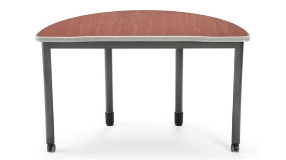 "Training Tables OFM 48"" x 24"" Half Round Table"