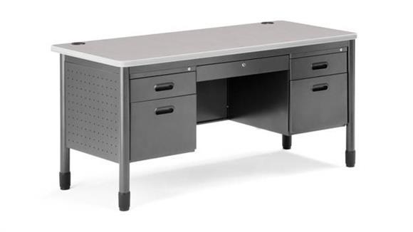 Executive Desks OFM Double Pedestal Steel Desk