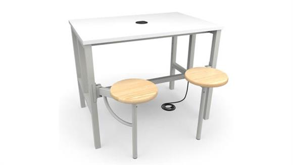 General Tables OFM Standing Height 2 Seat Table