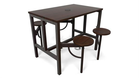 General Tables OFM Standing Height Four Seat Table