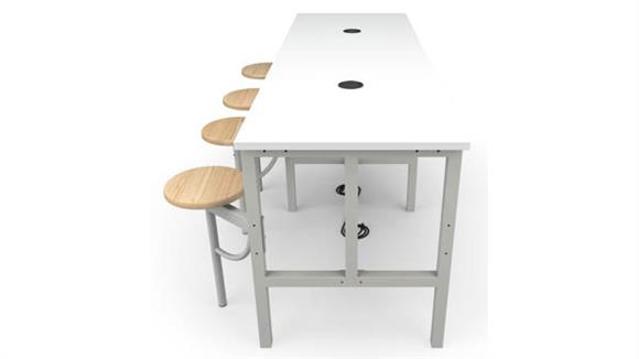 General Tables OFM Standing Height 4 Seat Table