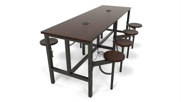 General Tables OFM Standing Height Eight Seat Table