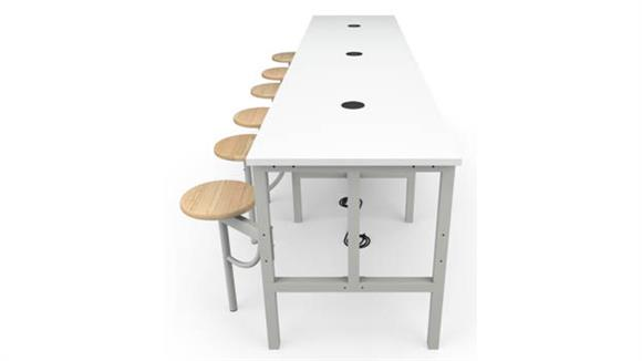 General Tables OFM Standing Height  6 Seat Table