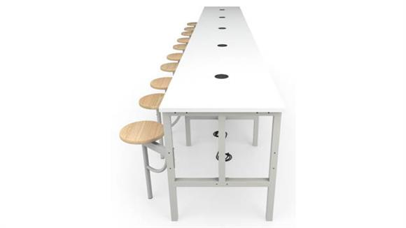 General Tables OFM Standing Height 10 Seat Table