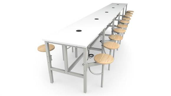 General Tables OFM Standing Height 20 Seat Table