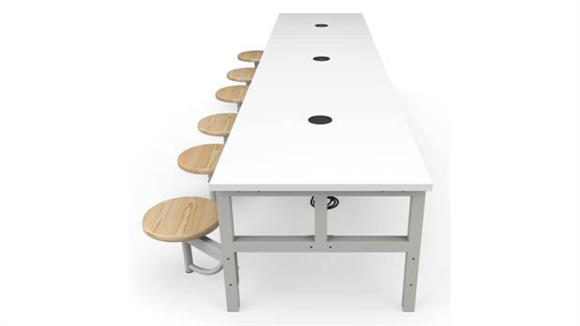 General Tables OFM Student Height 6 Seat Table