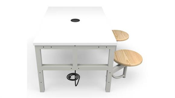 General Tables OFM Student Height 2 Seat Table