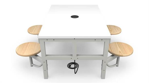 General Tables OFM Student Height 4 Seat Table
