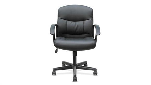 Office Chairs OFM Sadie Mid-Back Leather Task Chair