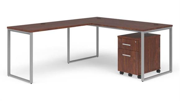 "L Shaped Desks OFM 66"" L-Desk Set"