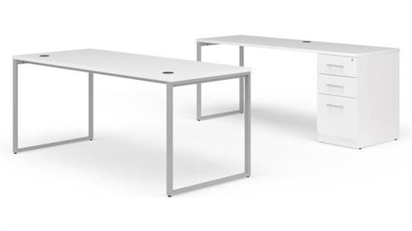 "Office Credenzas OFM 72"" Desk with Credenza Set"