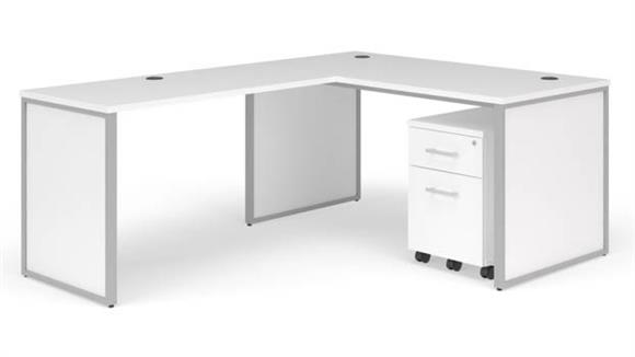 "L Shaped Desks OFM 60"" L-Desk Set"