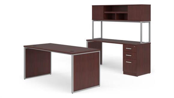"Office Credenzas OFM 66"" Desk, Credenza with Hutch Set"