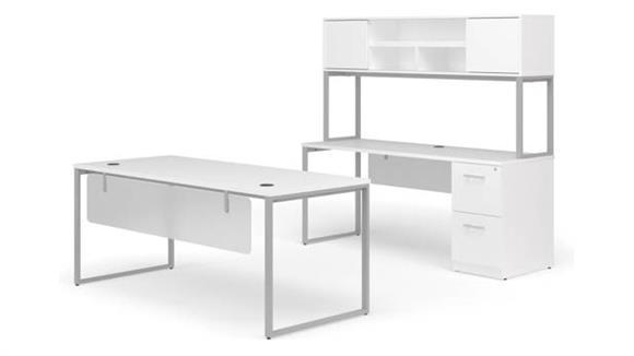 "Office Credenzas OFM 72"" Table Desk, 72"" Credenza Set"