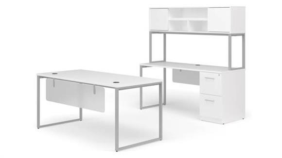 "Office Credenzas OFM 66"" Table Desk, 66"" Credenza Set"